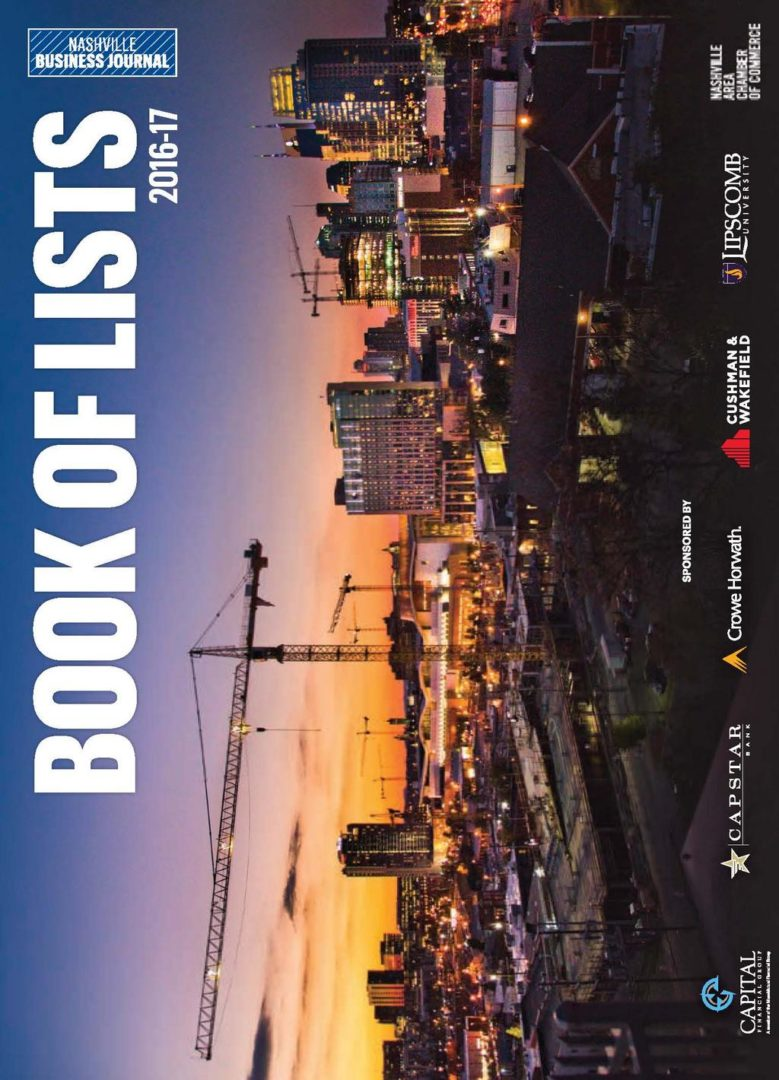 The Nashville Business Journal's Book of Lists is an excellent resource for what's happening with companies in Middle Tennessee.